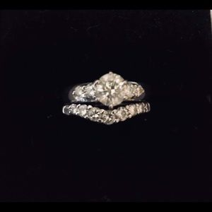 Jewelry - Wedding ring and band